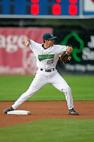 July 30, 2009:  Shortstop Chris Wade of the Jamestown Jammers during a game at Russell Diethrick Park in Jamestown, NY.  The Jammers are the NY-Penn League Short-Season Single-A affiliate of the Florida Marlins.  Photo By Mike Janes/Four Seam Images