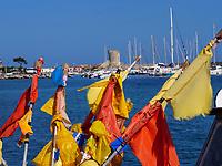 Fischerboot im Hafen, Marciana Marina, Elba, Region Toskana, Provinz Livorno, Italien, Europa<br /> Port with fishing boat Marciana Marina, Elba, Region Tuscany, Province Livorno, Italy, Europe