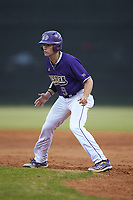 Daylan Nanny (9) of the Western Carolina Catamounts takes his lead off of first base against the St. John's Red Storm at Childress Field on March 12, 2021 in Cullowhee, North Carolina. (Brian Westerholt/Four Seam Images)