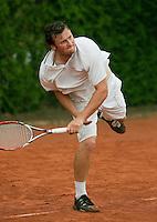 12-8-09, Den Bosch,Nationale Tennis Kampioenschappen, 1e ronde,  Frank Clausing