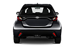 Straight rear view of 2020 Toyota Yaris Dynamic 5 Door Hatchback Rear View  stock images