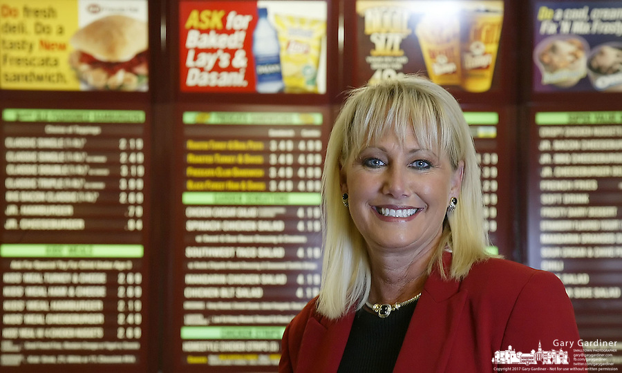 Wendy's chief executive officer Kerrii Anderson at a Wendy's restaurant Thursday, May 11, 2006, in Dublin, Ohio.<br />