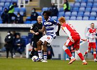 13th February 2021; Madejski Stadium, Reading, Berkshire, England; English Football League Championship Football, Reading versus Millwall; Ovie Ejaria of Reading passing the ball into midfield