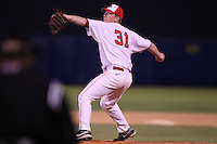 Illinois State Redbirds pitcher Ryan Camp #31 during a game vs. the Minnesota State Mavericks at Chain of Lakes Park in Winter Haven, Florida;  March 4, 2011.  Illinois State defeated Minnesota State 3-2.  Photo By Mike Janes/Four Seam Images