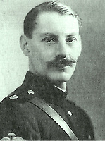 BNPS.co.uk (01202 558833)<br /> Pic: IronCrossMagazine/BNPS<br /> <br /> Pictured: Lt Col James Yule who tried to escape.<br /> <br /> The comical escape attempts made by British officers from a German prisoner of war camp called Castle Tittmoning have been revealed 80 years later.<br /> <br /> The desperate efforts to break out of the little known but rude sounding camp included three men who hid inside a cramped fireplace for eight days before being found by guards covered in soot. <br /> <br /> Other officers hid under piles of rubbish on a horse-drawn cart and allowed themselves to be driven out of the fortress before they were discovered.<br /> <br /> The men expertly made German uniforms out of blankets and brazenly walked out of the camp disguised as guards before being rumbled.