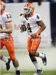 Illinois Fighting Illini cornerback Patrick Nixon-Youman (4) runs out onto the field before the 2010 Texas  Bowl football game between the Illinois  Fighting Illini and the Baylor Bears at the Reliant Stadium in Houston, Tx. Illinois defeats Baylor 38 to 14....