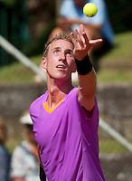 09-07-13, Netherlands, Scheveningen,  Mets, Tennis, Sport1 Open, day two,  Mark de Jong (NED)<br /> <br /> <br /> Photo: Henk Koster
