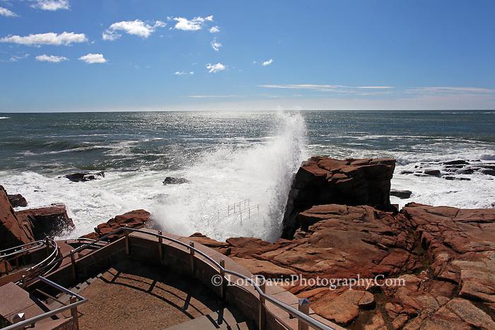 Crashing Waves at Thunder Hole, Acadia  #A45
