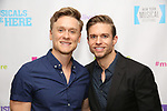 """Josh Canfield and Hunter Ryan Herdlicka backstage at the New York Musical Festival production of  """"Alive! The Zombie Musical"""" at the Alice Griffin Jewel Box Theatre on July 29, 2019 in New York City."""