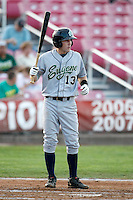 Rocky Gale, 2010 Eugene Emeralds, playing here against the Salem-Keizer Volcanoes at Volcanoes Stadium in Keizer, OR - 09/03/2010.Photo by:  Bill Mitchell/Four Seam Images..