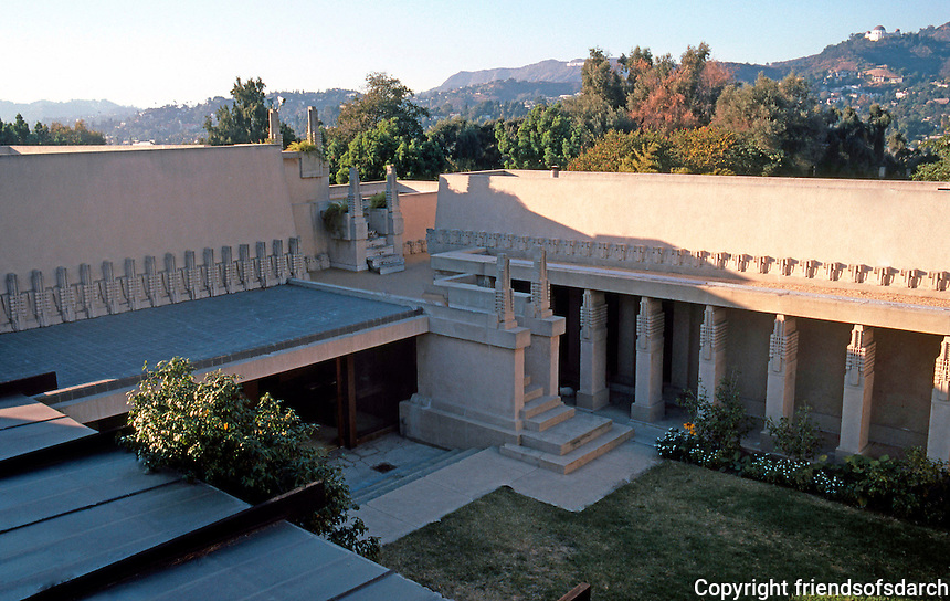 F.L. Wright: Barnsdall House--on the roof.