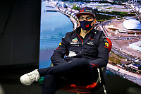 23rd September 2021; Sochi, Russia;   VERSTAPPEN Max ned, Red Bull Racing Honda RB16B, during the Formula 1 VTB Russian Grand Prix 2021, 15th round of the 2021 FIA Formula One World Championship driver press conference