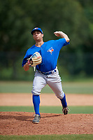 Toronto Blue Jays pitcher Marcus Reyes (33) delivers a pitch during an Instructional League game against the Philadelphia Phillies on September 30, 2017 at the Carpenter Complex in Clearwater, Florida.  (Mike Janes/Four Seam Images)