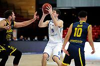 24-03-2021: Basketbal: Donar Groningen v Landstede Hammers: Groningen, Donar speler Damjan Rudez met Landstede speler Jozo Rados