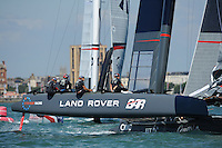 Land Rover BAR, JULY 23, 2016 - Sailing: Land Rover BAR during day one of the Louis Vuitton America's Cup World Series racing, Portsmouth, United Kingdom. (Photo by Rob Munro/AFLO)