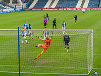 20th February 2021; The John Smiths Stadium, Huddersfield, Yorkshire, England; English Football League Championship Football, Huddersfield Town versus Swansea City; Jamal Lowe of Swansea City watches as his shot goes over the bar