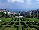 Portugal, Lissabon: Parque Eduardo VII und Denkmal Marquês de Pombal | Portugal, Lisbon: Parque Eduardo VII and monument Marquês de Pombal