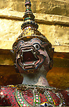 KHON STATUE AT STUPA IN GRAND PALACE BANGKOK