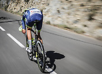 Taco van der Hoorn (NED) Intermarché-Wanty-Gobert Matériaux descends the Côte de Gilette during Stage 7 of Paris-Nice 2021, running 119.2km from Le Broc to Valdeblore La Colmiane, France. 13th March 2021.<br /> Picture: ASO/Fabien Boukla | Cyclefile<br /> <br /> All photos usage must carry mandatory copyright credit (© Cyclefile | ASO/Fabien Boukla)