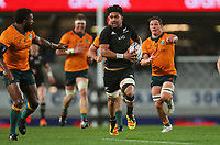 NZ's Ardie Savea in action during the Bledisloe Cup rugby match between the New Zealand All Blacks and Australia Wallabies at Eden Park in Auckland, New Zealand on Saturday, 14 August 2021. Photo: Simon Watts / lintottphoto.co.nz / bwmedia.co.nz