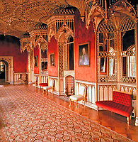 Strawberry Hill Picture Gallery. Home of Horace Walpole. Middlesex, England.