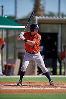 GCL Astros Tyler Krabbe (56) at bat during a Gulf Coast League game against the GCL Marlins on August 8, 2019 at the Roger Dean Chevrolet Stadium Complex in Jupiter, Florida.  GCL Astros defeated GCL Marlins 4-2.  (Mike Janes/Four Seam Images)
