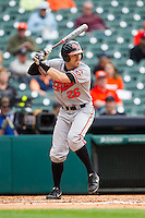 Luke Plucheck #26 of the Sam Houston State Bearkats at bat against the Texas Christian Horned Frogs at Minute Maid Park on February 28, 2014 in Houston, Texas.  The Bearkats defeated the Horned Frogs 9-4.  (Brian Westerholt/Four Seam Images)