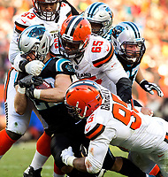 Photography of the Carolina Panthers v. The Cleveland Browns at FirstEnergy Stadium in Cleveland, Ohio.<br /> <br /> Charlotte Photographer - PatrickSchneiderPhoto.com