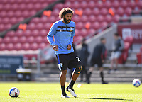 27th September 2020; Ashton Gate Stadium, Bristol, England; English Football League Championship Football, Bristol City versus Sheffield Wednesday; Isaiah Brown of Sheffield Wednesday warms up