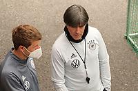 Bundestrainer Joachim Loew (Deutschland Germany) mit Thomas Mueller (Deutschland Germany) - Seefeld 04.06.2021: Trainingslager der Deutschen Nationalmannschaft zur EM-Vorbereitung