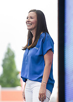 Sams Club CEO Kath McLay speaks, Friday, June 4, 2021 during the annual Walmart Associate Celebration at the Arkansas Music Pavilion in Rogers. Walmart held their associates meeting mostly virtually with a small celebration in person at the AMP. Check out nwaonline.com/210605Daily/ for today's photo gallery. <br /> (NWA Democrat-Gazette/Charlie Kaijo)
