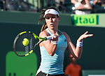 March 26 2018: Venus Williams (USA) defeats Johanna Konta (GBR) by 5-7, 6-1, 6-2, at the Miami Open being played at Crandon Park Tennis Center in Miami, Key Biscayne, Florida. ©Karla Kinne/Tennisclix/CSM