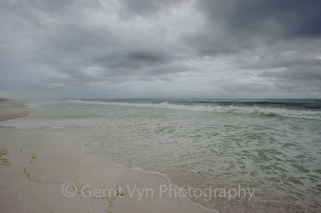 Beach and surf with storm approaching. Gulf Islands National Seashore, Florida. June.
