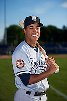 Staten Island Yankees Dom Thompson-Williams (54) poses for a photo before a game against the Batavia Muckdogs on August 27, 2016 at Dwyer Stadium in Batavia, New York.  Staten Island defeated Batavia 13-10 in eleven innings.  (Mike Janes/Four Seam Images)