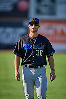 Spencer Brickhouse (36) of the Missoula Osprey before the game against the Ogden Raptors at Lindquist Field on August 12, 2019 in Ogden, Utah. The Raptors defeated the Osprey 4-3. (Stephen Smith/Four Seam Images)