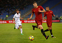 Roma's Edin Dzeko in action during the Serie A football match between Roma and Bologna at Rome's Olympic stadium, October 28, 2017.<br /> UPDATE IMAGES PRESS/Riccardo De Luca