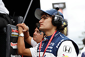 Pietro Fittipaldi, Dale Coyne Racing Honda watches the race from pit lane