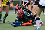 GER - Mannheim, Germany, May 24: During the U16 Girls match between Australia (green) and Germany (white) during the international witsun tournament on May 24, 2015 at Mannheimer HC in Mannheim, Germany. Final score 0-6 (0-3). (Photo by Dirk Markgraf / www.265-images.com) *** Local caption *** Mimi Blanks #1 of Australia