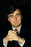 Montreal (Qc) CANADA -<br /> <br /> Lucien Bouchard, in an undated file photo circa 1990<br /> <br /> Bouchard joined Mulroney's Progressive Conservative government in 1988 as Secretary of State and later Minister of the Environment, serving until 1990. While still a strong Quebec nationalist, he believed that Mulroney's Meech Lake Accord was sufficient to placate nationalist feelings and keep Quebec in confederation.<br /> <br /> However, after a commission headed by Jean Charest recommended some changes to the Accord, Bouchard left the Progressive Conservatives (May 1990), feeling that the spirit and objectives of Meech were being diluted. Mulroney felt betrayed by Bouchard, and rejected his reasoning, having heard from a friend that Bouchard planned on leaving days before the Commission's report. In fact, in his memoirs Mulroney stated that trusting Bouchard was his most regretful and costliest mistake as Prime Minister. After the failure of Meech, Bouchard formed the sovereigntist Bloc Qu»b»cois, initially a faction of disaffected, separatist federal MPs and later a full-blown party, which attracted a variety of former Liberals and Conservatives.