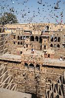 Chand Baori Step Well, Abhaneri Village, Rajasthan, India.  Built 800-900A.D.