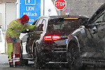 Coronivirus Outbreak - Italy in Lockdown - Border with Austria - quarantine on 10/03/2020, Brennero, Brenner, Italy. Military, Police and Austrian Authorities are seen realising temperatures checks under snow on 10th of March 2020, Since this morning Italy is in lockdown till 3rd of April 2020 in a bid to try to avoid a pandemic of the Covid-19. Today Italy is having more than 500 deaths.