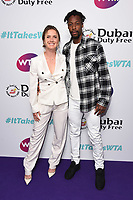 Elina Svitolina and Gael Monfis<br /> arriving for the WTA Summer Party 2019 at the Jumeirah Carlton Tower Hotel, London<br /> <br /> ©Ash Knotek  D3512  28/06/2019
