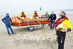Members of Banna Rescue on Banna Beach on Saturday who have seen their major Ring of Kerry fundraiser cancelled for 2nd year in a row. Front right: Grainne Costello, Back l to r: Pat Lawlor, Brian Crean and Sean O'Connor in the boat, Thomas Ward and Denis Fitzgerald.