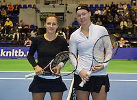 22-12-13,Netherlands, Rotterdam,  Topsportcentrum, Tennis Masters, Ladies final Olga Kalyuzhnaya (NED) and Kiki Bertens (NED) (R)<br /> Photo: Henk Koster