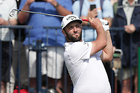 15th July 2021; Royal St Georges Golf Club, Sandwich, Kent, England; The Open Championship, PGA Tour, European Tour Golf, First round : Jon Rahm (ESP) plays along iron from the tee on the 3rd hole