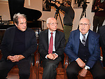 """GIOVANNI MINOLI, EMMANUELE MILANO E PIPPO BAUDO<br /> PRESENTAZIONE PROGRAMMA """" ERA LA RAI. ALLE ORIGINI DEL SERVIZIO PUBBLICO""""<br /> SALA CONFERENZE UNINETTUNO - ROMA 2019"""