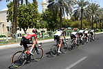 Race leader Tadej Pogacar (SLO) and UAE Team Emirates during Stage 3 of the 2021 UAE Tour running 166km from Al Ain to Jebel Hafeet, Abu Dhabi, UAE. 23rd February 2021.  <br /> Picture: LaPresse/Fabio Ferrari | Cyclefile<br /> <br /> All photos usage must carry mandatory copyright credit (© Cyclefile | LaPresse/Fabio Ferrari)