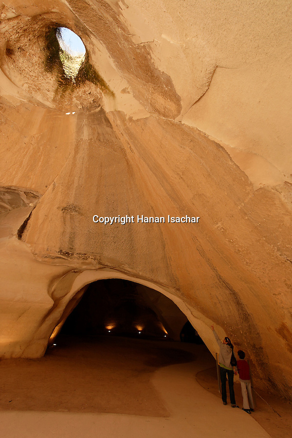 Israel, Shephelah region. Bell cave in Beth Guvrin