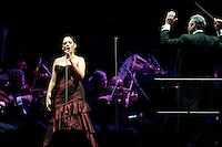 Andrea Bocelli performs with the Houston Symphony at the Toyota Center