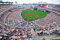 19 June 2011: A crowd of 35,439 take in a Father's Day baseball game between the Baltimore Orioles and the Washington Nationals at Nationals Park in Washington, District of Columbia. The Orioles defeated the Nationals 7-4 in inter-league play, ending Washington's 8-game winning streak. Mandatory Credit: Ed Wolfstein Photo